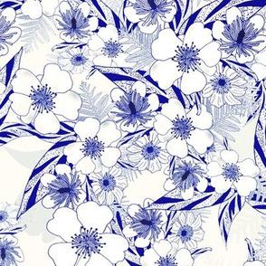 Silky Floral Blueprint 300