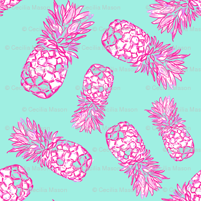 Pineapple dance  in Turquoise