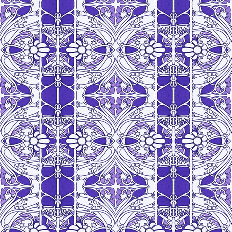 Through the Purple Gate fabric by edsel2084 on Spoonflower - custom fabric