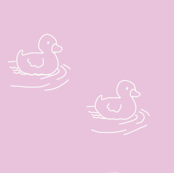 Duckies on pink
