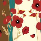 Poppies! (Baroque Stripe)