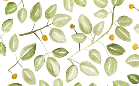 Watercolor Leaves fabric by laurapol on Spoonflower - custom fabric