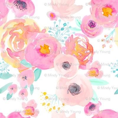 INDY BLOOM BLUSH Florals WHITE LIGHT_D