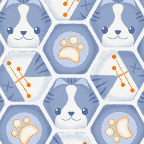 Hexy Cats_Blue