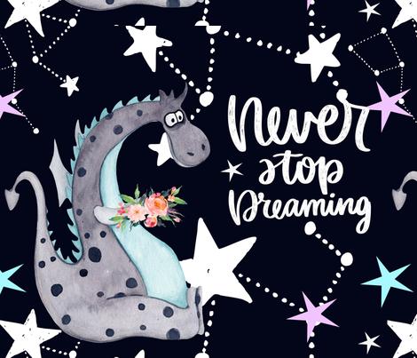 Dragon Dreamer fabric by floramoon on Spoonflower - custom fabric
