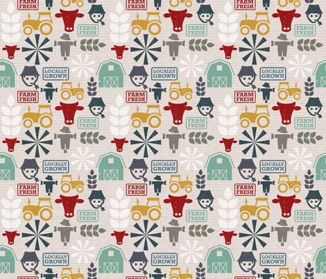 On-the-farm fabric by linziloop on Spoonflower - custom fabric