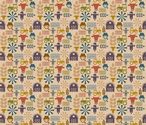 Farm-Fresh-Small-Repeat fabric by linziloop on Spoonflower - custom fabric