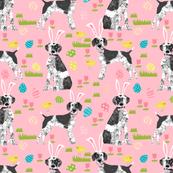 Custom german shorthair mix dog breed Easter dog fabric pink