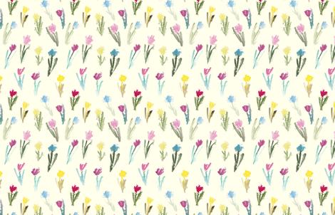 Tulip_Pattern_off_white fabric by wildflowerfabrics on Spoonflower - custom fabric