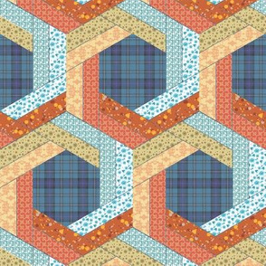 Log Cabin Hexagons