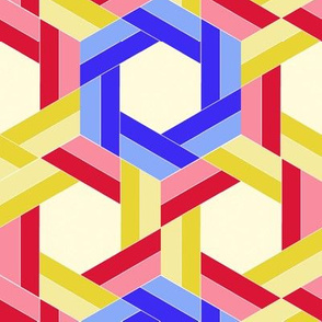 Primary Color Triangle Hexagons