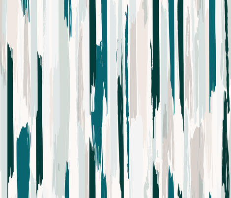 Feather-Stripe_Teal fabric by crystal_walen on Spoonflower - custom fabric