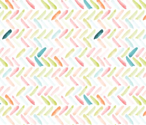 Candy Watercolor Herringbone fabric by laurapol on Spoonflower - custom fabric