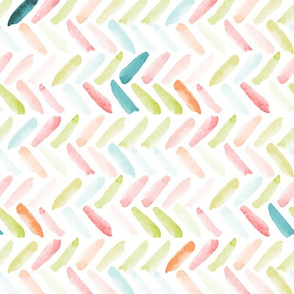 Candy Watercolor Herringbone