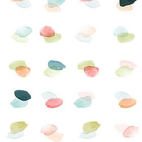 Multi Watercolor Overlapping Dots