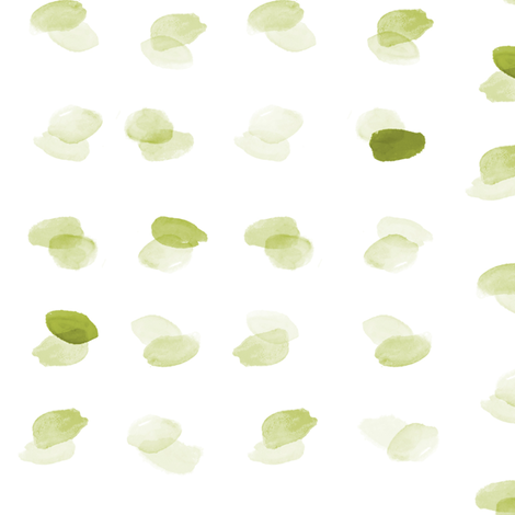 Watercolor Overlapping Dots Green fabric by laurapol on Spoonflower - custom fabric