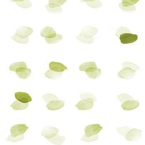 Watercolor Overlapping Dots Green