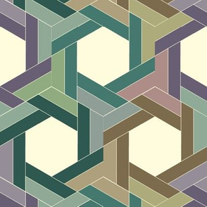 Subdued Whirling Hexagons
