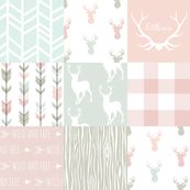 Patchwork Deer - Pastels/White 2