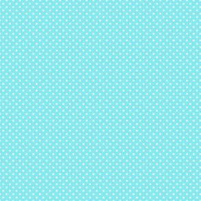 White Polka Dots on Light Blue
