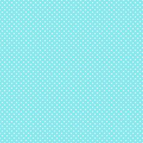 White Polka Dots on Light Blue