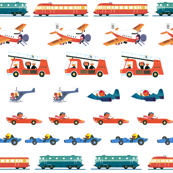 All about vehicles 2 - Boys Fun - Big images - From Alain Gree's vintage children books