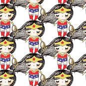 Wonder Girl on white