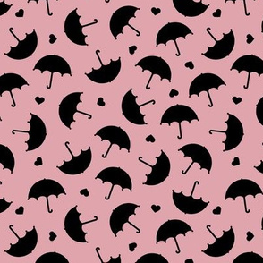 Umbrella love dancing in the rain scandinavian girls dusty pink