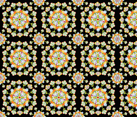 Jaipur Blossom Mandala fabric by patriciasheadesigns on Spoonflower - custom fabric