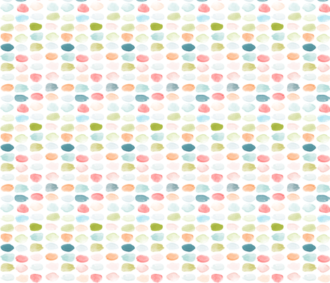 Watercolor Dot Multi fabric by laurapol on Spoonflower - custom fabric