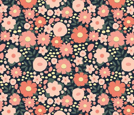 Romantic Blush Floral fabric by ms_jenny_lemon on Spoonflower - custom fabric