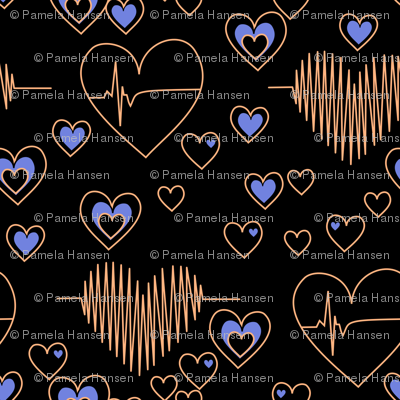 love your heart copper and blue