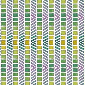lined mosaic lime