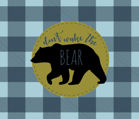 Pillow - Don't Wake the BEAR! fabric by buckwoodsdesignco on Spoonflower - custom fabric