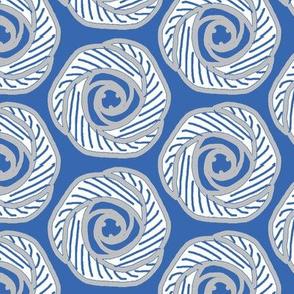 Soft hexagonal flowers-blue2