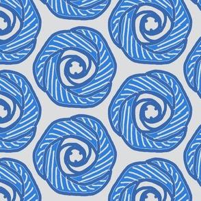 Soft hexagonal flowers-blue1