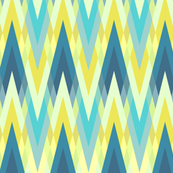 Zigzaggy golden and blue