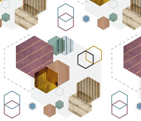 Urban-Hexagonia fabric by linziloop on Spoonflower - custom fabric