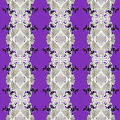 Oxalis Lace in Silver on Purple