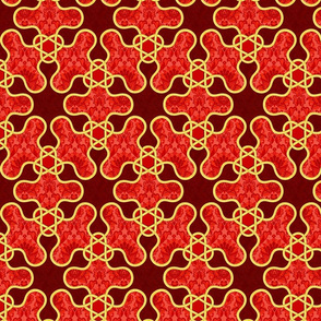 red textured arabesque