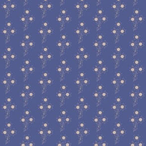 Blue With Cream