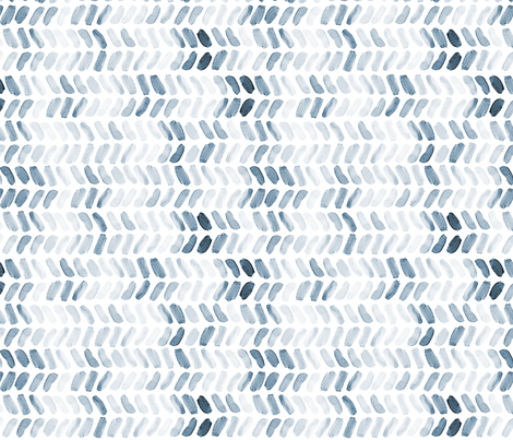 Navy Blue Watercolor Herringbone fabric by laurapol on Spoonflower - custom fabric