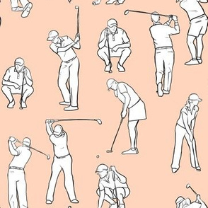Golf on Pale Pink