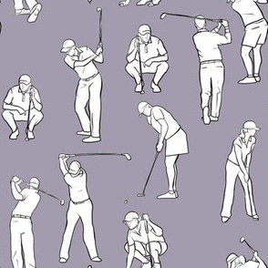 Golf on Light Purple