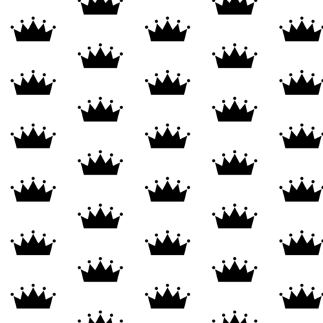 black crowns fabric by lilcubby on Spoonflower - custom fabric