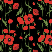 Windy Poppies (Black)