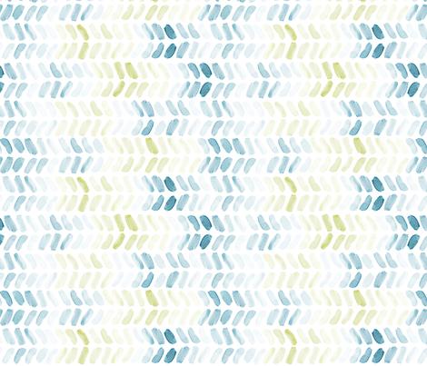 Bluegreen Watercolor Herringbone fabric by laurapol on Spoonflower - custom fabric