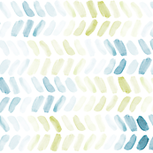 Bluegreen Watercolor Herringbone