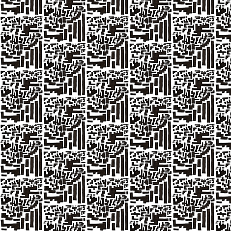 Black and White Gridlock-Small fabric by c_moen on Spoonflower - custom fabric