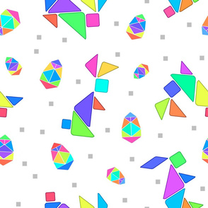 Tangram Easter Bunnies